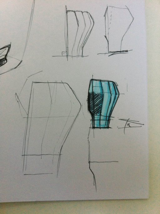 First sketches Luka Stepan Design
