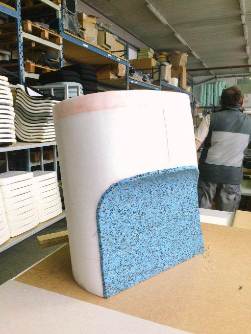 Crispness through foam Foam construction Luka Stepan Design